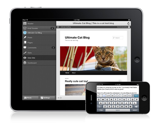 Wordpress on iPad and iPhone